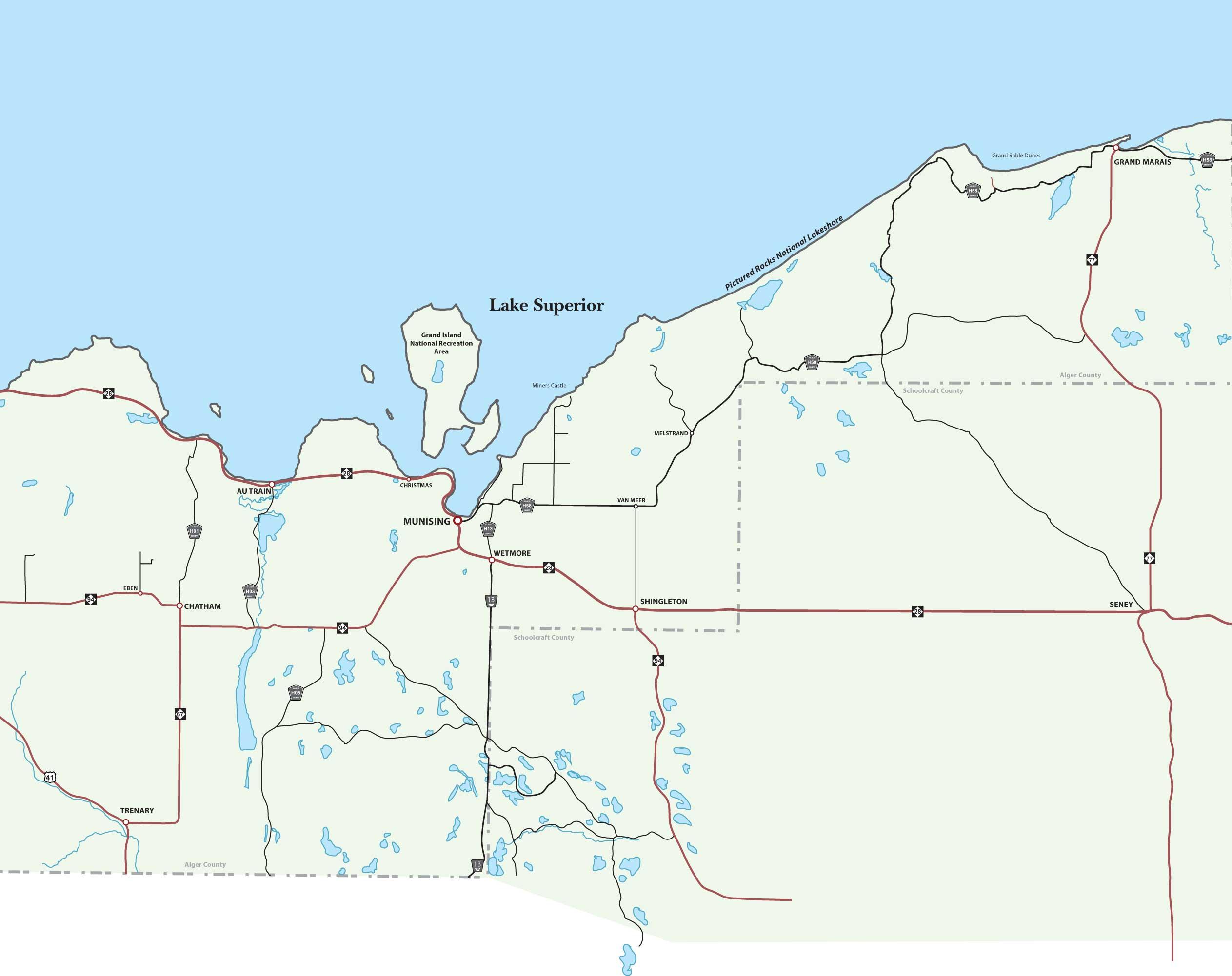 Michigan alger county munising - More