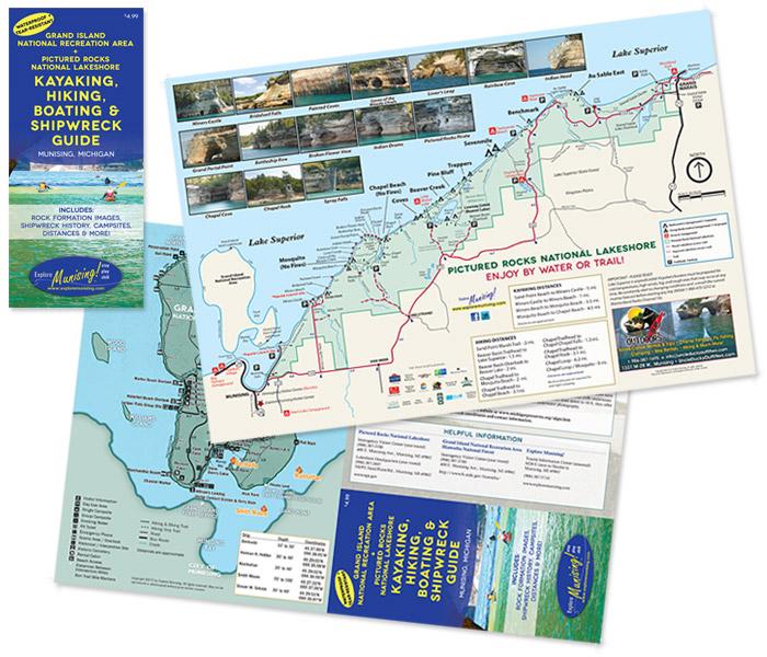 Picture Rocks Michigan Map.Waterproof Map Explore Munising