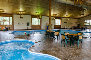 indoor pool, sauna, kids area