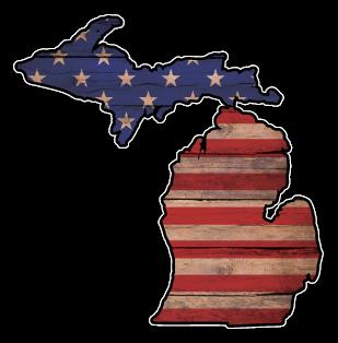 MI USA Flag