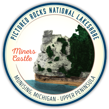 Miners Castle magnet