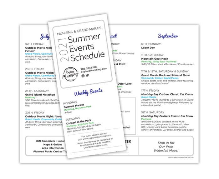 Summer Events Printout